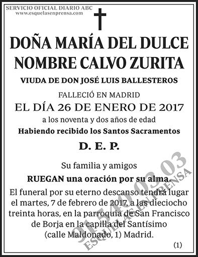 María del Dulce Nombre Calvo Zurita